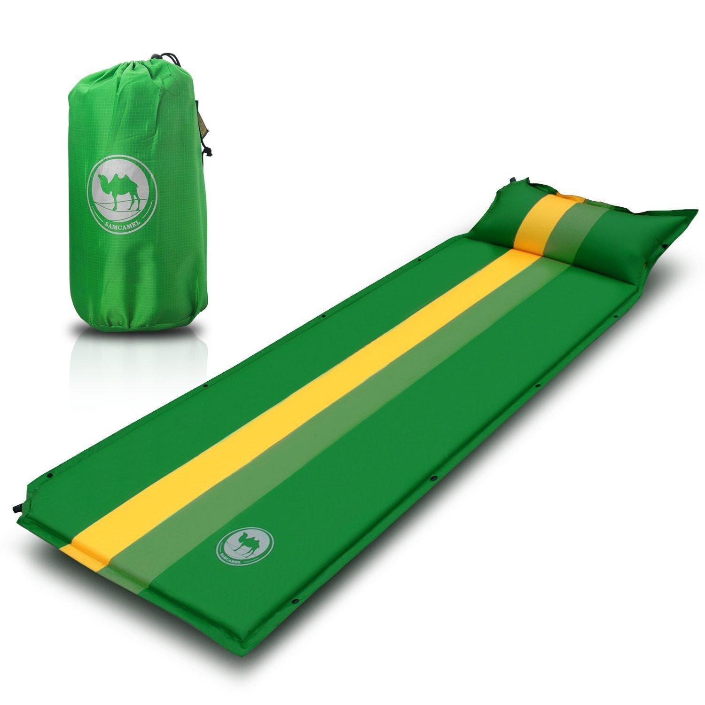 EKKONG Utralight al Aire Libre colchoneta Inflable con Almohada, cómodo colchón Camp Pad, Impermeable de Camping, Trekking, Senderismo, PVC 210T, ...