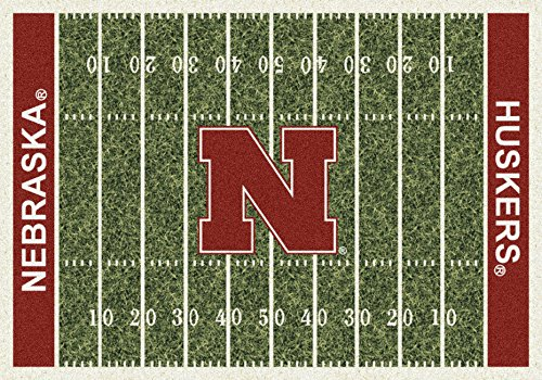 Nebraska College Home Football Field Rug: 5'4