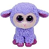 Carletto Ty 36171 - lavanda con brillo de los ojos de Glubschi Beanie Boo, cordero Pascua limitada, 15 cm, púrpura