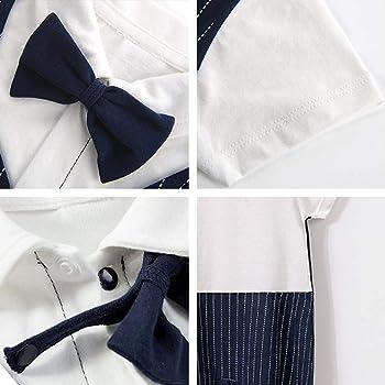 Fairy Baby Newborn Baby Boys Onesie Gentleman Outfit Formal Plaid Tuxedo Suit