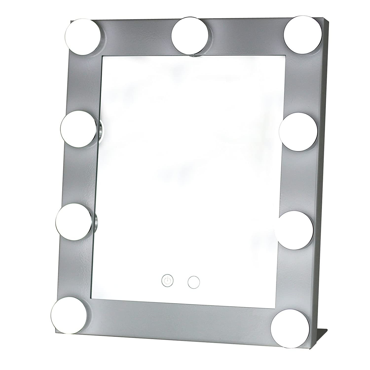 Yvettevans Hollywood Makeup Vanity Mirror with Light Tabletops Lighted  Mirror with Dimmer Stage Beauty Mirroru2026