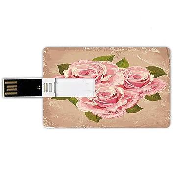 8GB Forma de tarjeta de crédito de unidades flash USB Rosa Estilo ...
