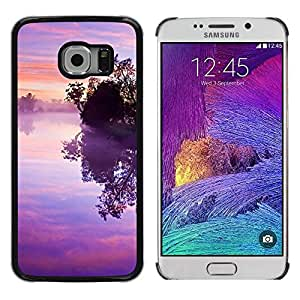 iKiki Tech / Estuche rígido - Nature Pink Purple Susnet - Samsung Galaxy S6 EDGE SM-G925