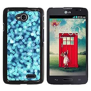 For LG Optimus L70 / LS620 / D325 / MS323 Case , Water Blue Ocean Pear Bright - Diseño Patrón Teléfono Caso Cubierta Case Bumper Duro Protección Case Cover Funda