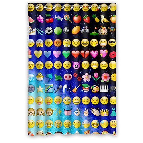 Kids Window Curtains Funny Emoji Faces