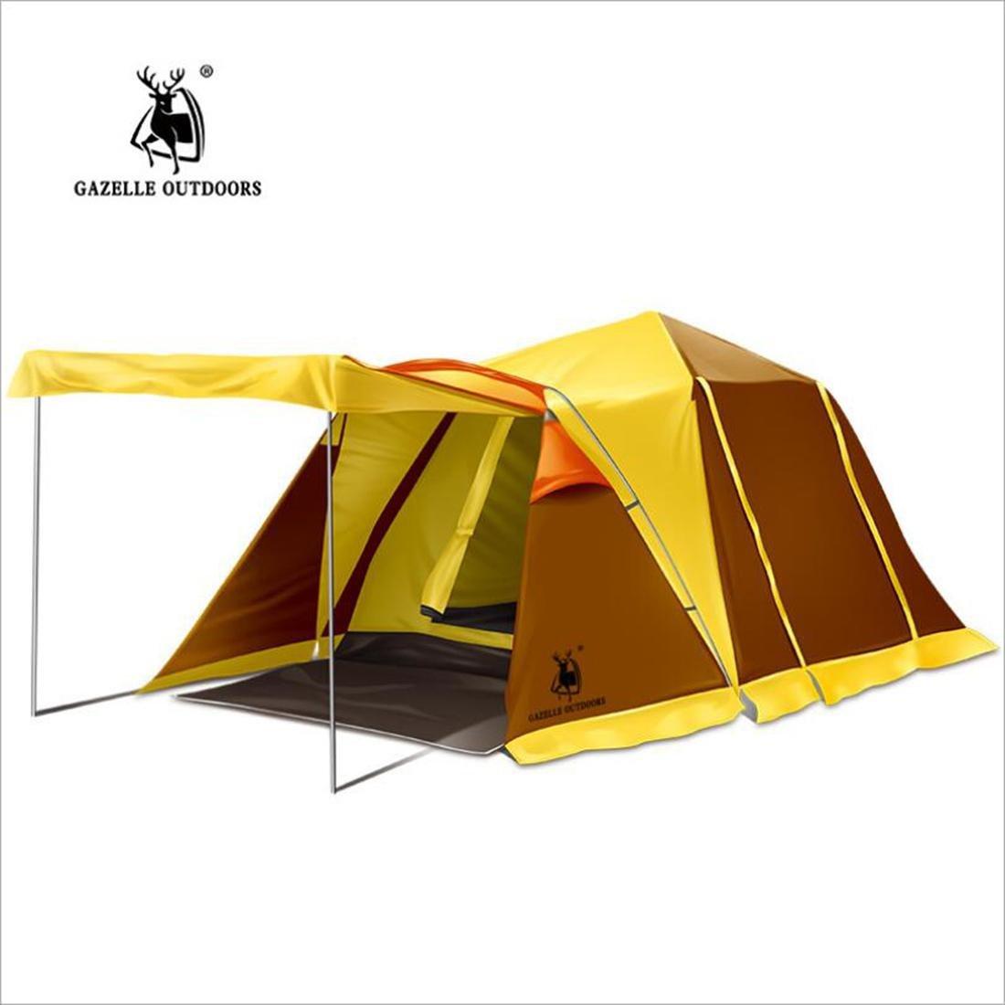 LDD STAR Outdoor 3-4 Personen Doppelcamping automatische Zelte ein Zimmer und ein Zimmer regen Camping Lieferungen
