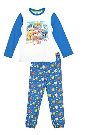 Super Wings Boy Pyjama Cotton Long Slaves Amazoncouk Clothing