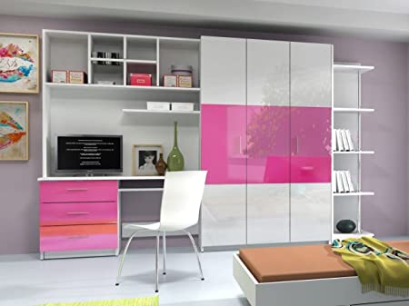 AALTO 3 WALL UNIT, OFFICE AT HOME, BEDROOM FURNITURE, HIGH GLOSS ...