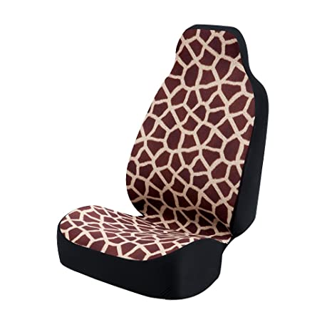 Tremendous Coverking Universal Fit 50 50 Bucket Animal Fashion Print Seat Cover Giraffe Wine Alphanode Cool Chair Designs And Ideas Alphanodeonline