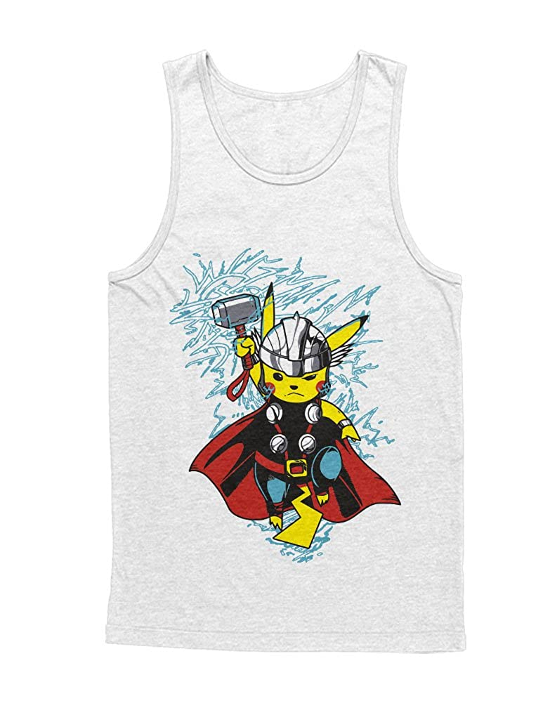 Tank-Top Poke Go Pika Superheroes Cross Over Hype X Y Blue Red Yellow Plus Hype Nerd Game C210019