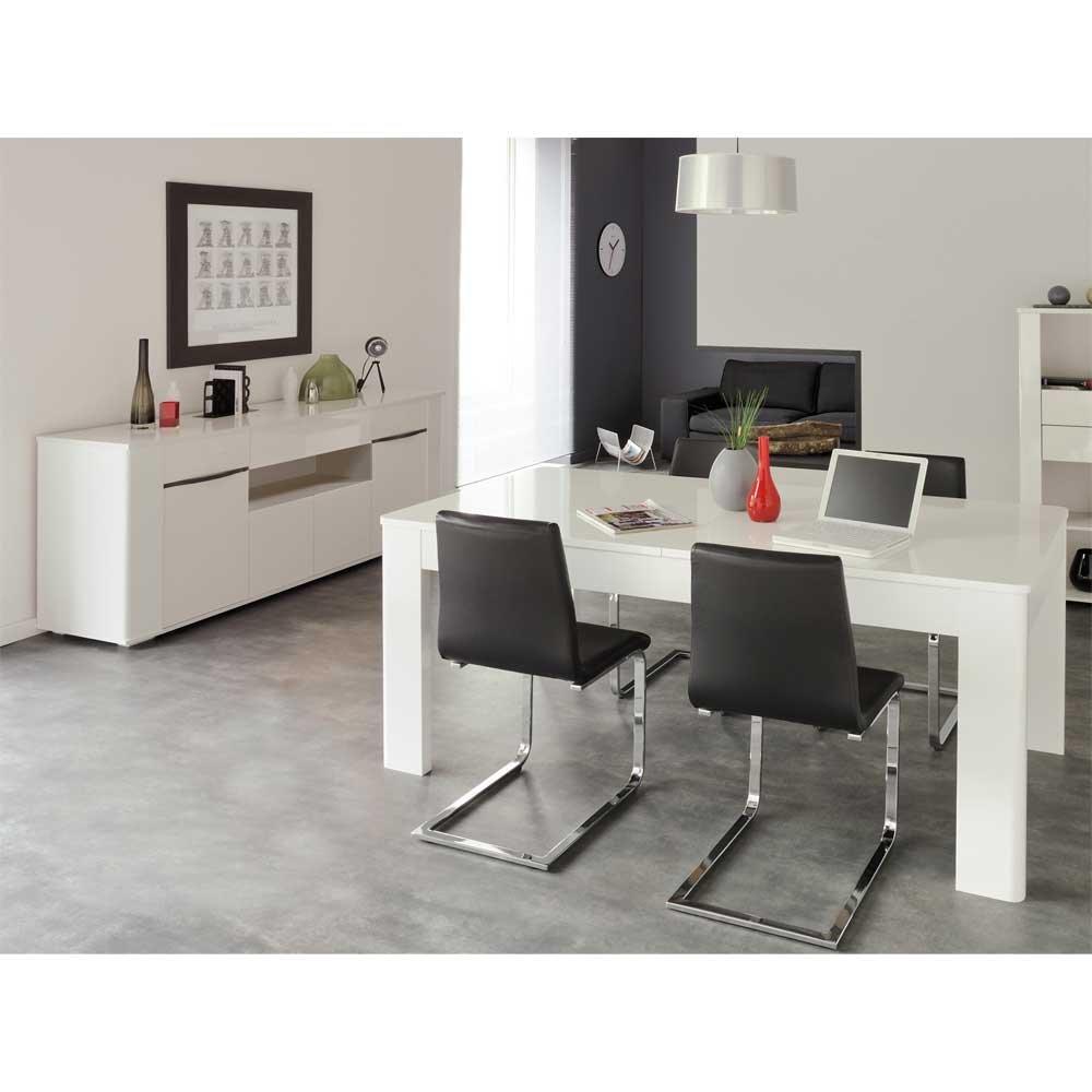 Möbel Set für Esszimmer Weiß Hochglanz (2-teilig) Pharao24