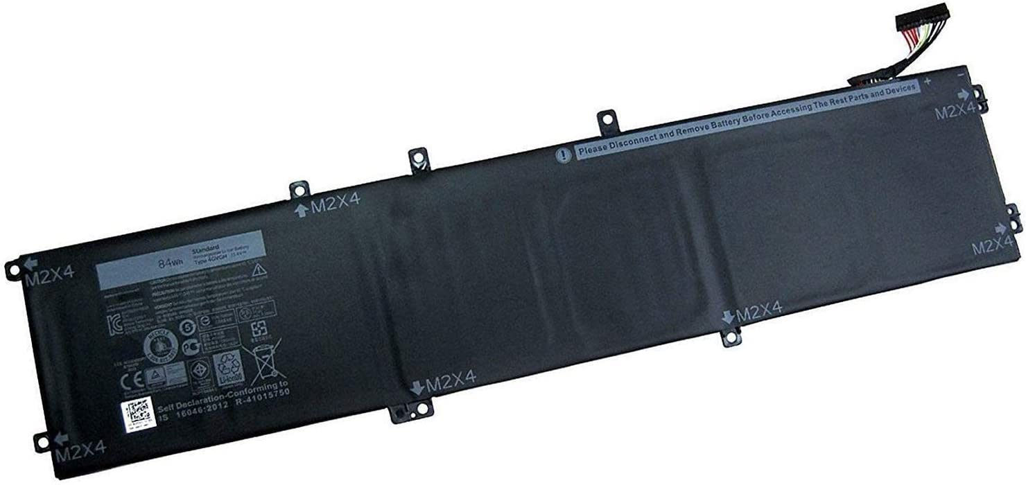 Fully 4GVGH Replacement Laptop Battery Compatible with Dell XPS 15 9550 1P6KD - 11.1V 84Wh