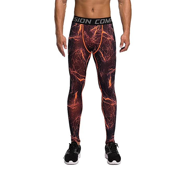 f1c6d76b3556b Rera Men's Tight Fitness Compression Pants Camouflage Print Breathable  Stretch Quick Drying Sports Gym Trousers: Amazon.co.uk: Clothing