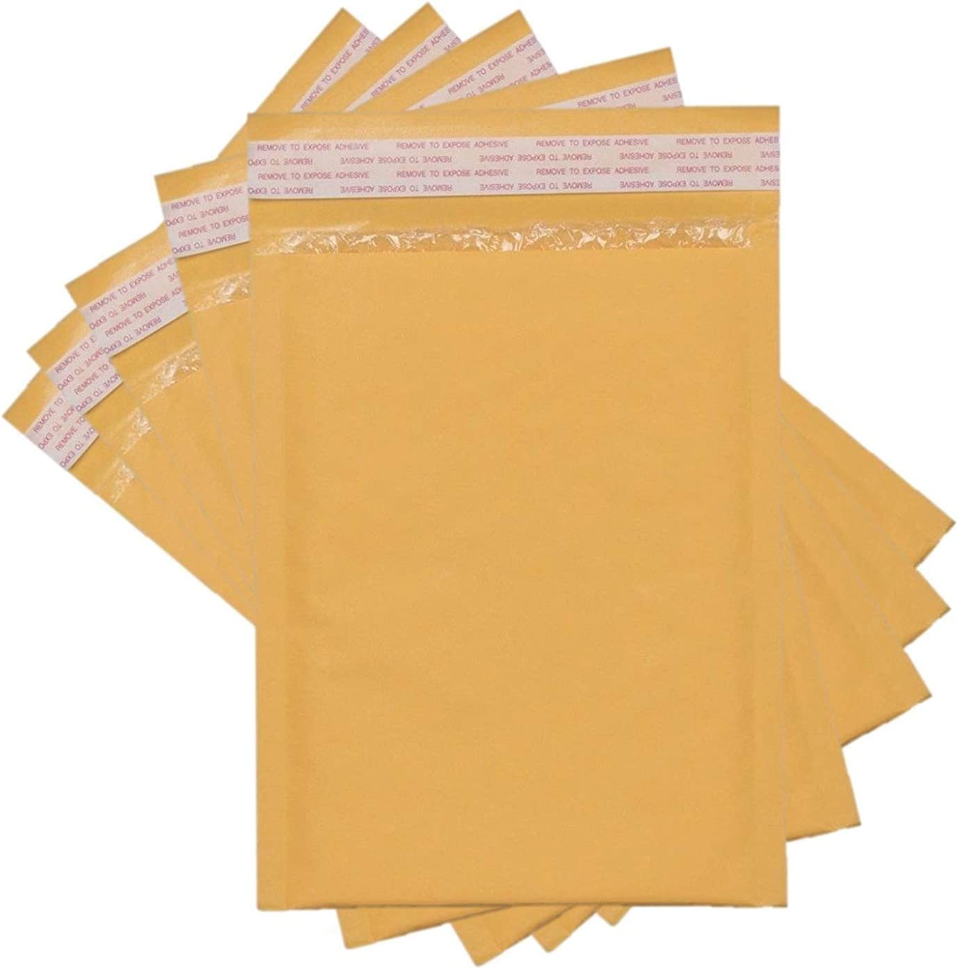 Sales4Less #2 Kraft Bubble Mailers 8.5x12 Inches Shipping Padded Envelopes Self Seal Waterproof Cushioned Mailer 10 Pack