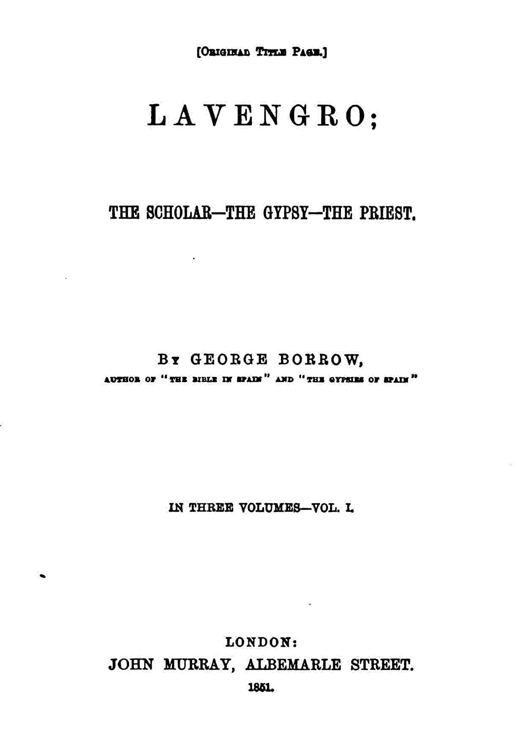 Lavengro, the Scholar, the Gypsy, the Priest (English Edition ...