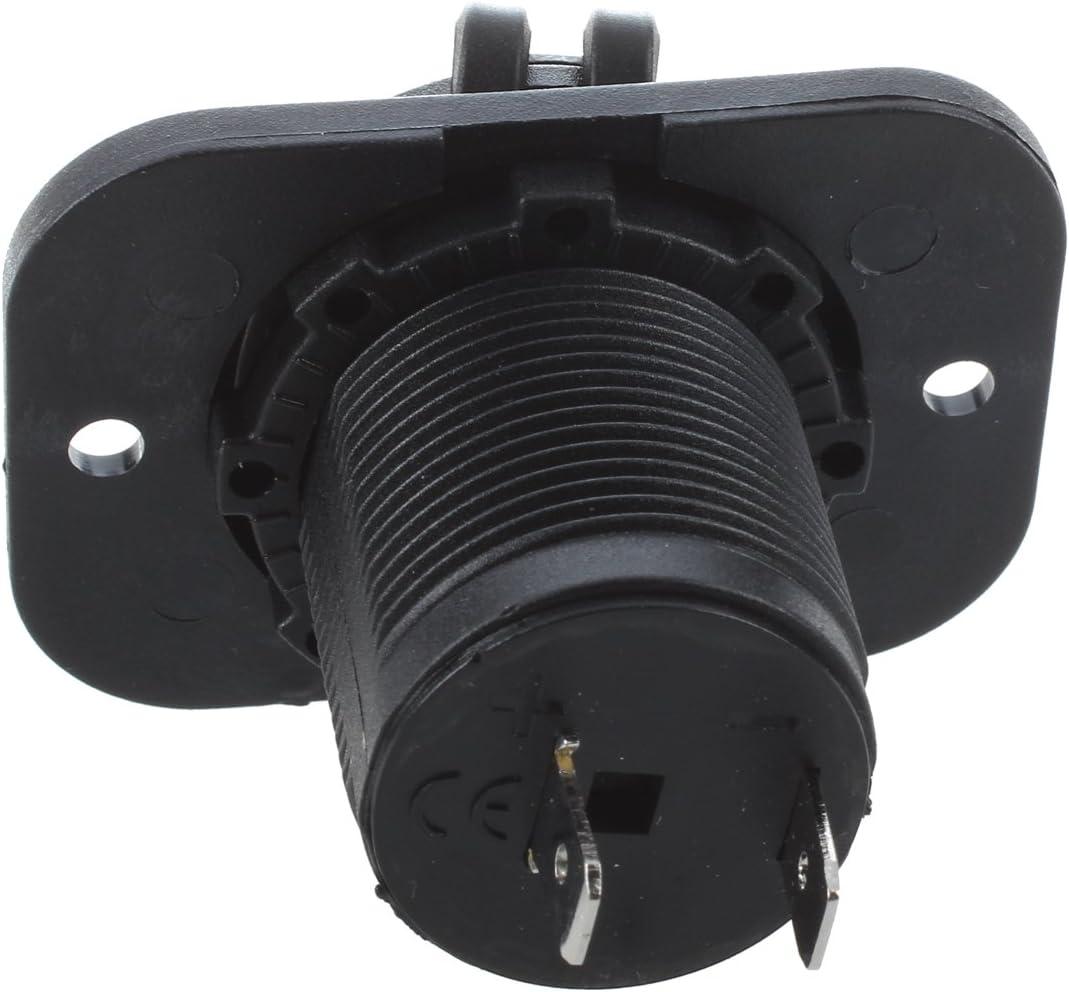 Kamenda 2 x Toma de Corriente Empotrable Mechero Conector 12V para Coche Moto Barco