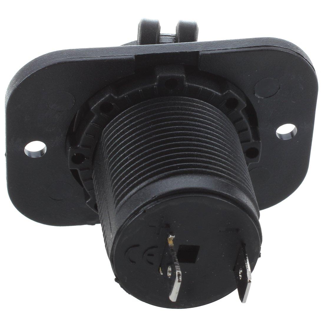 Casinlog 2 x Toma de Corriente Empotrable Mechero Conector 12V para Coche Moto Barco