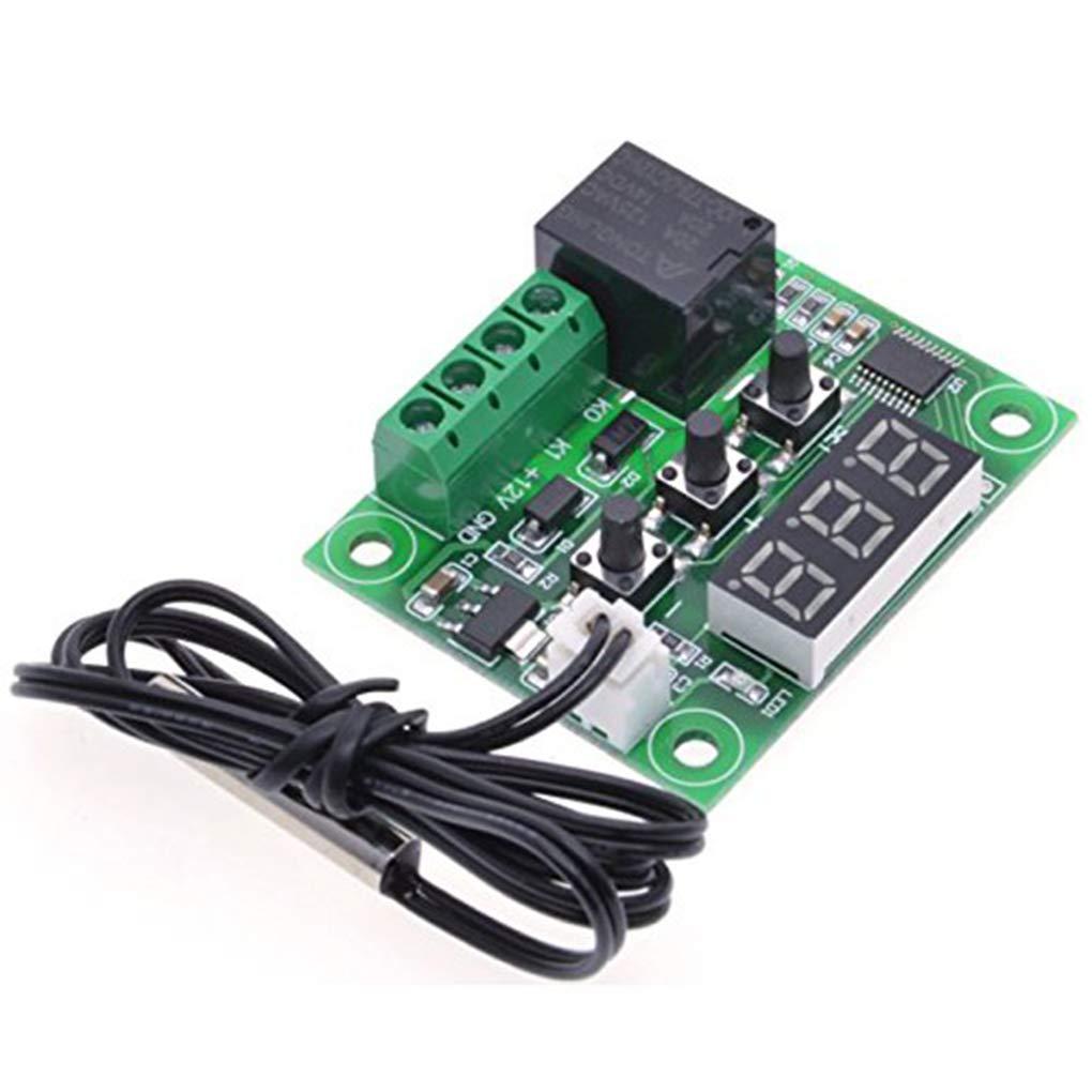 W1209 12V DC-Digital-LCD 50-110 ℃ Bereich Thermostat Temperaturregelung Schalter Sensor Modul mit Geh/äusen