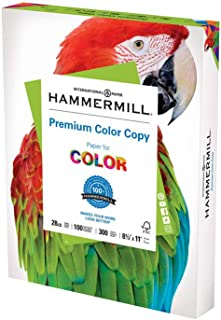 product image for Hammermill Printer Paper, Premium Color 28 lb Copy Paper, 8.5 x 11 - 1 Pack (300 Sheets) - 100 Bright, Made in the USA