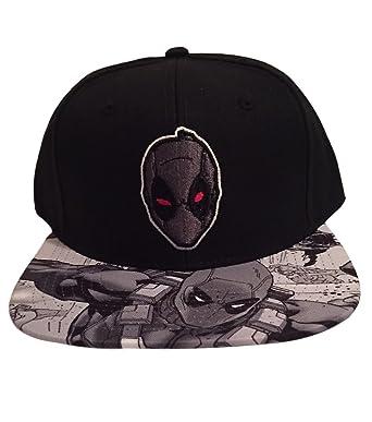 Deadpool X Force Sublimated Flat Brim Snapback Baseball Cap Marvel Comics   Amazon.co.uk  Clothing 6e32c609d8ef