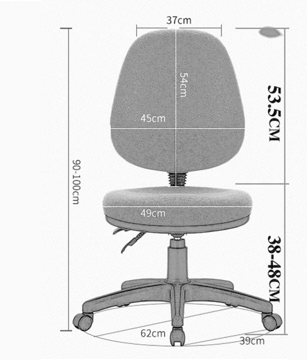 Skrivbordsstolar, kontorsstol datorstol låg rygg datoruppgift kontor skrivbordsstol svängbar korg knästol (färg: Grön) gRÖN