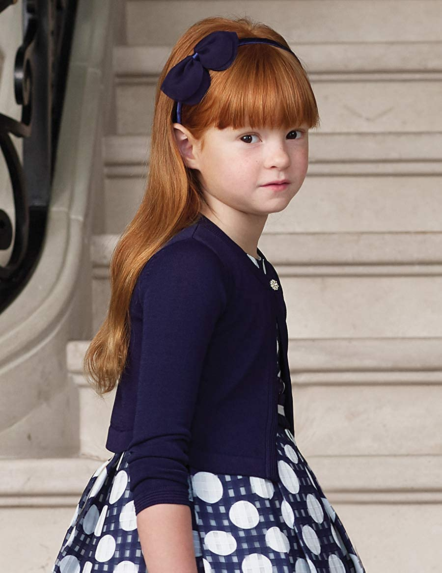 Navy Abel /& Lula 5305 Tricot Cardigan for Girls