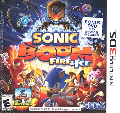 Sonic Boom Fire and Ice - Launch Edition - With Bonus DVD (Nintendo 3DS)