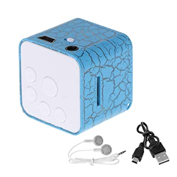 Jiamins Mini parlantes Reproductor de MP3 con Ranura para ...