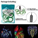 Zitrades EL Wire Green Neon Lights Kit 4 Modes