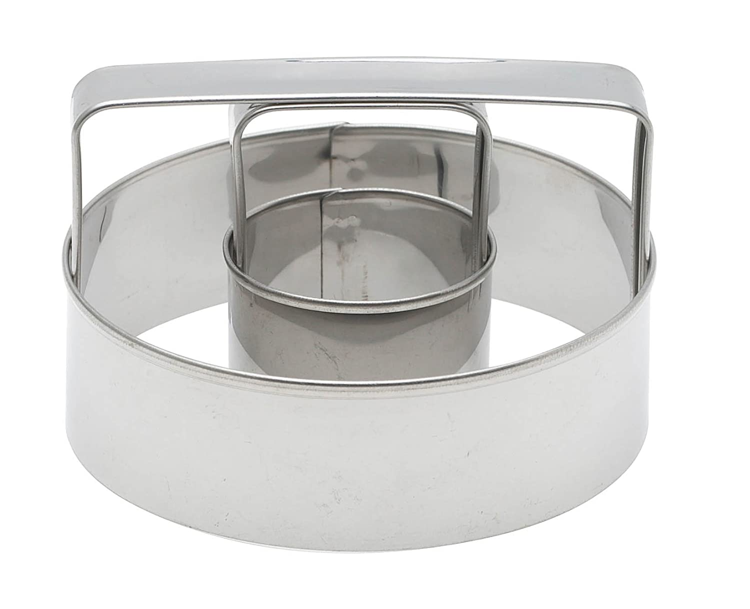 Mrs. Anderson's Baking Donut Cutter with Handle, Stainless Steel, 3-Inches x 3-Inches Mrs. Anderson's Baking 45871