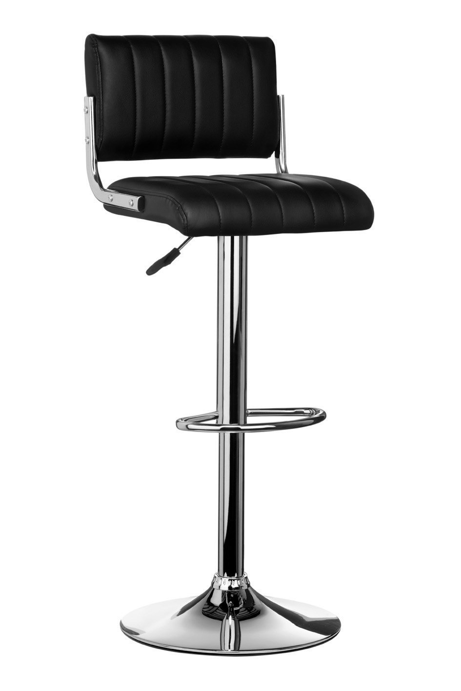 Premier Housewares Ribbed Bar Chair - Black, Set of 2 8881110