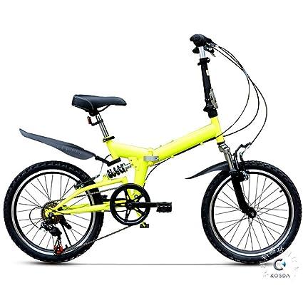 ZXCTTBD Compacto Bicicleta Plegable,6 Velocidades 20 ...