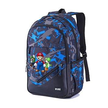 Super Mario Modelos de Pareja Mochila Multifuncional de Diseño Escolares Popular Mochila de Viaje Mochila para Deportes al Aire Libre Mochilas Escolares ...