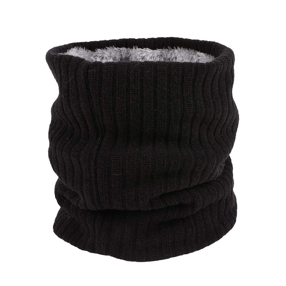 Unisex Winter Men Women Warm Knitted Ring Scarves Thick Elastic Knit Mufflers