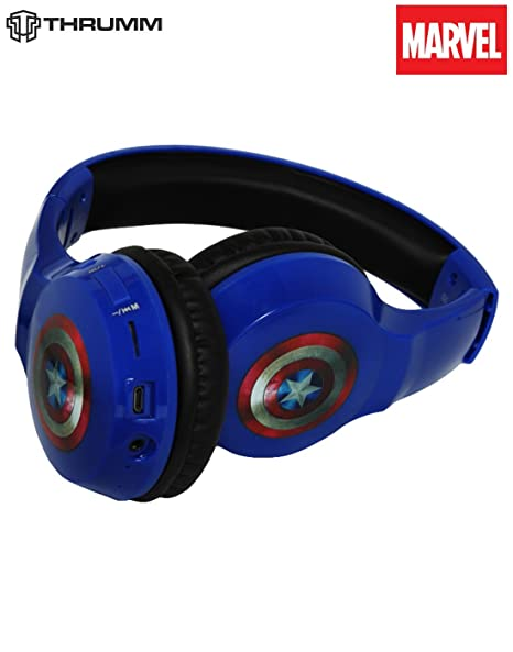 Amazon In Buy Thrumm Defender Captain America Bluetooth Headphone Over The Head Online At Low Prices In India Thrumm Reviews Ratings