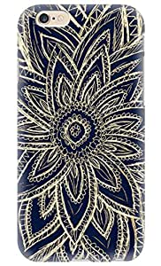 """CaseandHome Cute Retro Gold Abstract Flower Design PC Material Hard Case For iphone 6 4.7"""""""