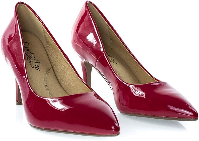 Medium Heel Shoes Lipstick Red
