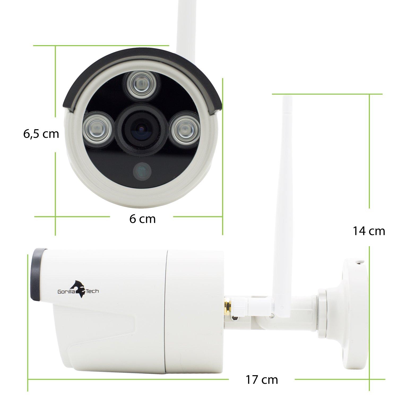 Juego de Vigilancia Inalámbrica en alemán de 4 canales con 4 unidades 960p HD impermeable IP kameraa, 1TB Disco Duro schwingungsarm preinstalado, ...