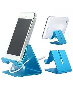 niceEshop(TM) Support en Alliage d'Aluminium pour Téléphone Portable et Tablette Tactile (Bleu)