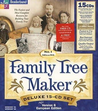 Family Tree Maker V6 Deluxe 15 CD Set + 1 Free CD