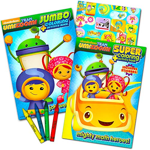 Team Umizoomi Coloring Book Super Set -- 2 Coloring and Activity Books, Over 30 Stickers and Jumbo Toddler Crayons ()