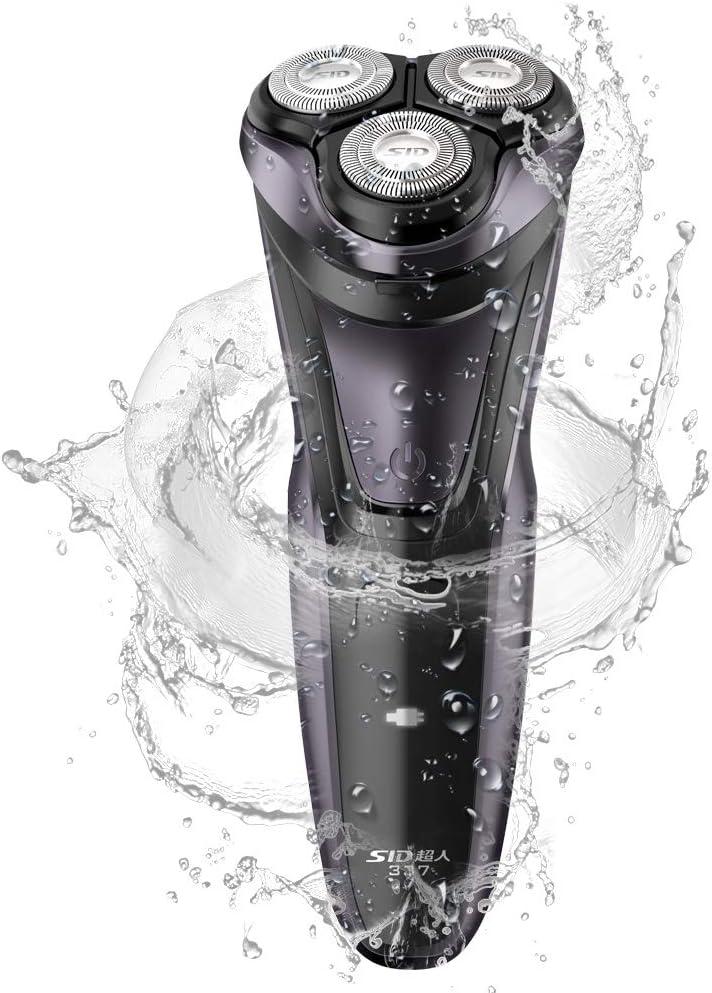 SID Afeitadora eléctrica para hombres Afeitadora rotativa USB ...