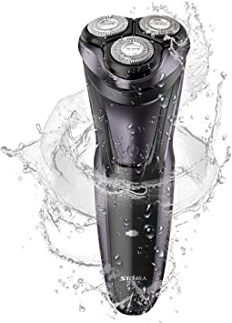 SID Afeitadora eléctrica para hombres Afeitadora rotativa USB recargable rápida IPX7 Cortadora de barba seca y húmeda a prueba de agua Afeitadoras eléctricas con recortadora emergente RS337 (púrpura): Amazon.es: Salud y cuidado