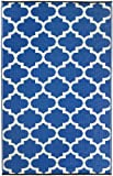 Fab Habitat Tangier Recycled Plastic Rug,  Regatta Blue & White, (3′ x 5′) Review