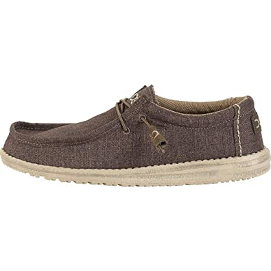 Dude Shoes Men's Wally Linen Chocolate UK7 / EU41 iE3jebR
