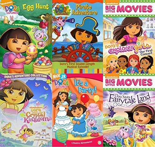 Dora The Explorer DVD Pack Collection Vol, 4 - Dora the Explorer: The Egg Hunt/ Pirate Adventure/ Our First Concert/ Dora Saves the Crystal Kingdom/ It's a Party/ Dora Saves Fairytale Land