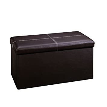 Amazoncom Sauder Beginnings Storage Ottoman Large Brown
