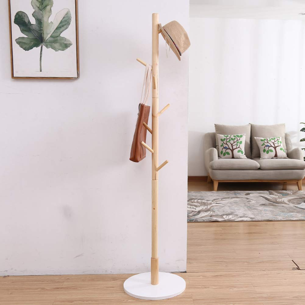 Y 45x45x175cm Has Coat Stand Wood Stand Coat Hanger Tree-Shaped Coat Rack Hanger Has Coat Stand for Clothes, Has, Bag-Y 45x45x175cm