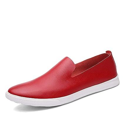 HhGold Mocasines de Vestir Rojos con Suela de Goma para niños de Boy Boy UK 8