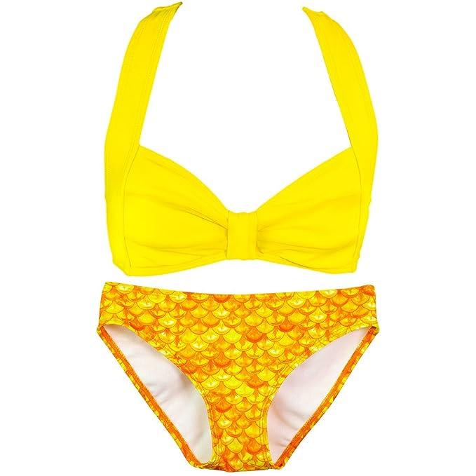 De Mermaidens Sirena Fin Niña Fun Bikini Para Motivo NO8yn0vwPm